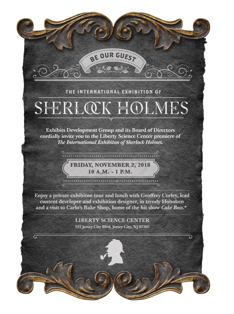 Jersey City Is The Next Stop For The International Exhibition of Sherlock Holmes
