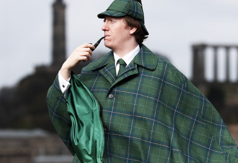 New York Fashion Pages 'Women's Wear Daily' Covers Sherlock Holmes Tartan